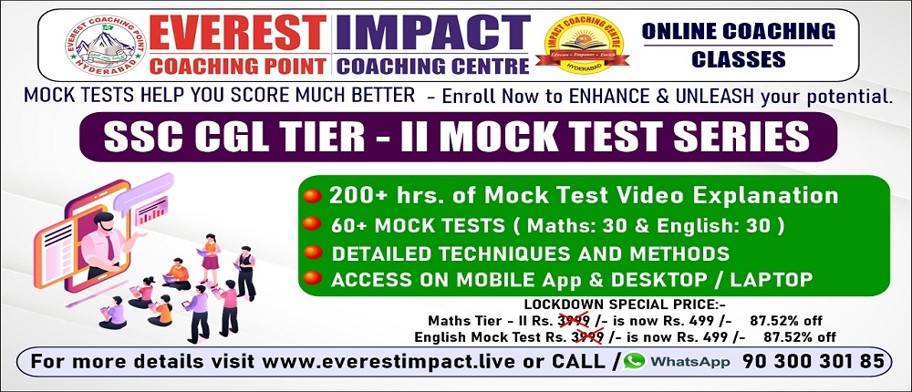 ssc cgl online best everest coaching point impact centre dilsukhnagar for government jobs chsl